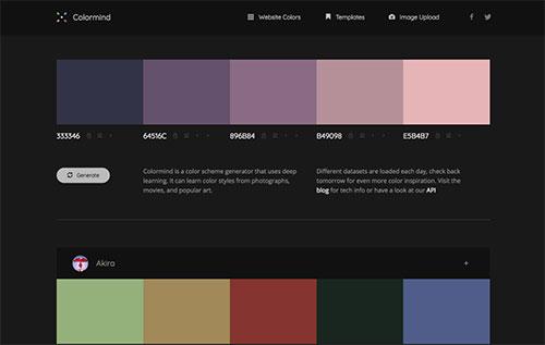 在线配色神器Colormind,网页UI设计师专用工具-爱资源网 , 专注分享实用软件工具&资源教程